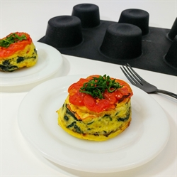 Picture of Tomato & Spinach Crustless Quiche