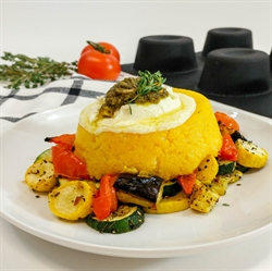 Picture of Pesto Polenta over Roast Vegetables